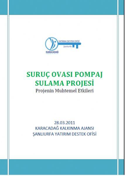 Suruç Ovası Pompaj Sulama Projesinin Muhtemel Etkileri